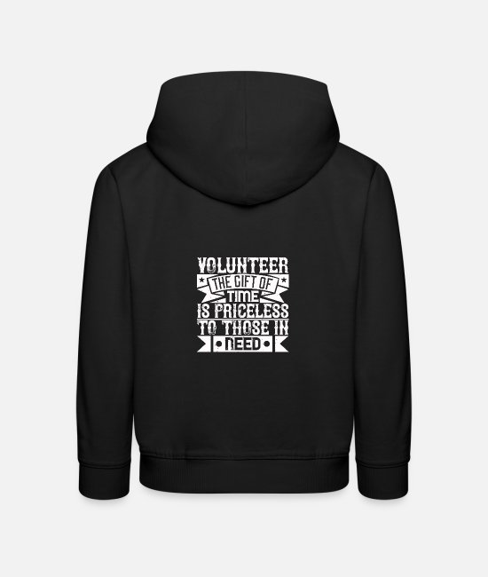 Fire Fighter Hoodies & Sweatshirts - Volunteer the gift of time is priceless to those i - Kids' Premium Hoodie black