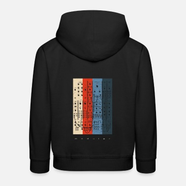 Techno Vintage Modular Synthesizer - Analog Synth Nerd - Kinder Premium Hoodie