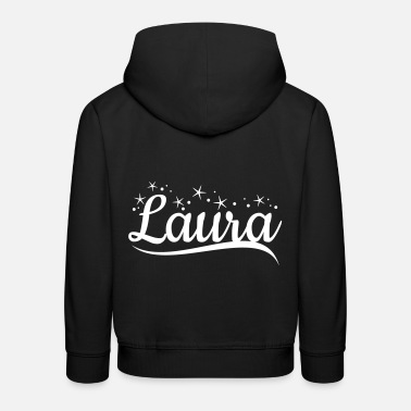 Laura surname first name - Kids' Premium Hoodie
