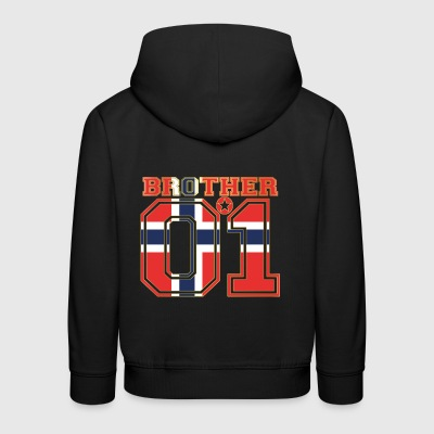 brother brother brother 01 partner Norway - Kids' Premium Hoodie
