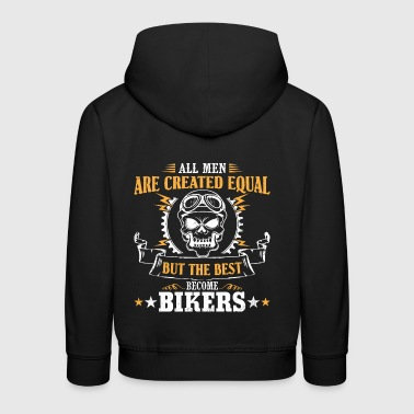 Men become the best bikers - Kids' Premium Hoodie
