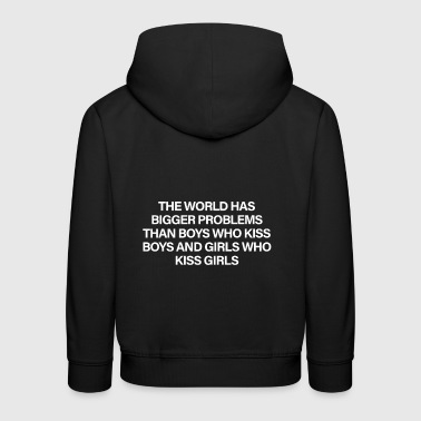The World Has Bigger Problems White - Sudadera con capucha premium niño