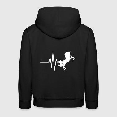My heart beats for unicorns - unicorn horses - Kids' Premium Hoodie