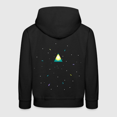 Triangle and space - Pull à capuche Premium Enfant