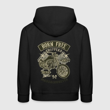 Född fri CHOPPERS - Motorcykel Chopper shirt design - Premium-Luvtröja barn