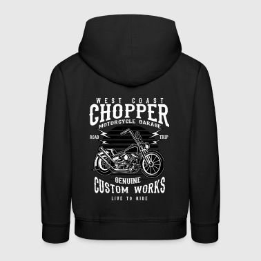 WEST COAST CHOPPER - Chopper Motorrad Shirt Motiv - Kinder Premium Hoodie