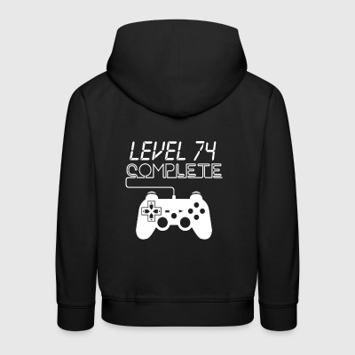 Level 74 Complete Shirt For Gamer - Bluza dziecięca z kapturem Premium