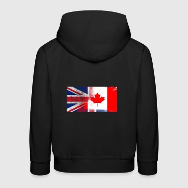 British Canadian Half Canada Half UK Flag - Kids' Premium Hoodie
