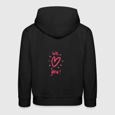 Spread the love! - Kids' Premium Hoodie