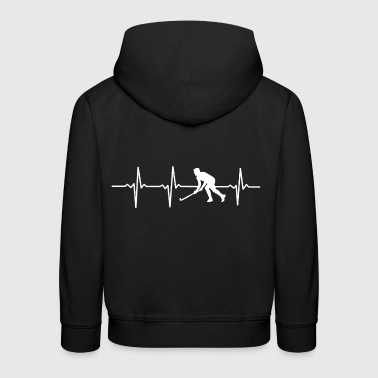 My heart beats for HOCKEY - Gift - Kids' Premium Hoodie
