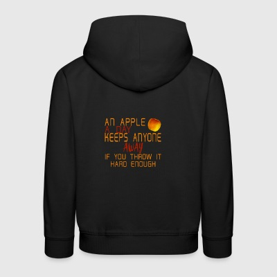 Funny apple spruch doctor funny - Kids' Premium Hoodie