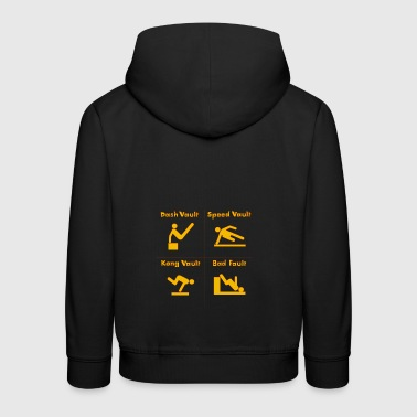Parcours and jumps - Kids' Premium Hoodie