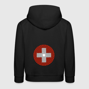 Switzerland Switzerland Swiss Love Heart Mandala - Kids' Premium Hoodie