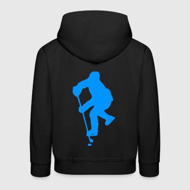 ice hockey ice skating skates puck hel - Kids' Premium Hoodie