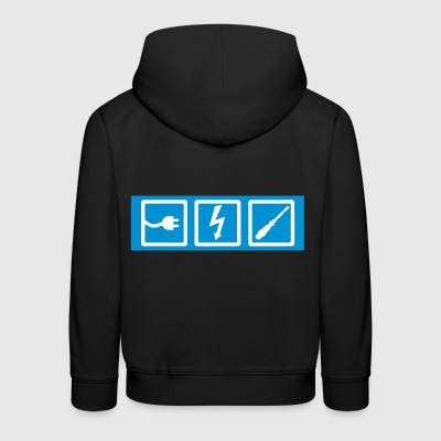 electrician, professions, electrician occupation, electrician - Kids' Premium Hoodie