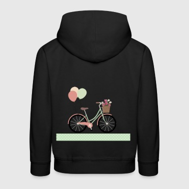 Bicycle with balloons - Kids' Premium Hoodie