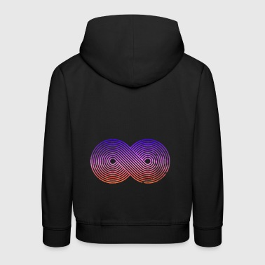 Infinity sign infinity sign colors - Kids' Premium Hoodie