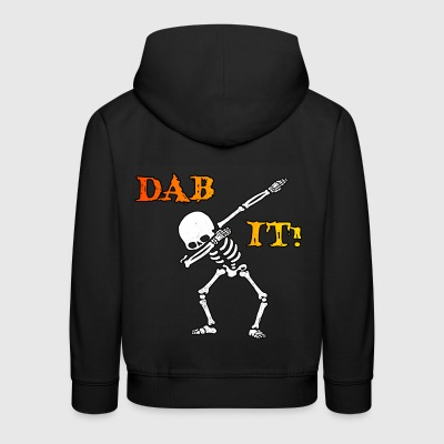 DAB IT - Skelett - Halloween - Helloween - Kinder Premium Hoodie