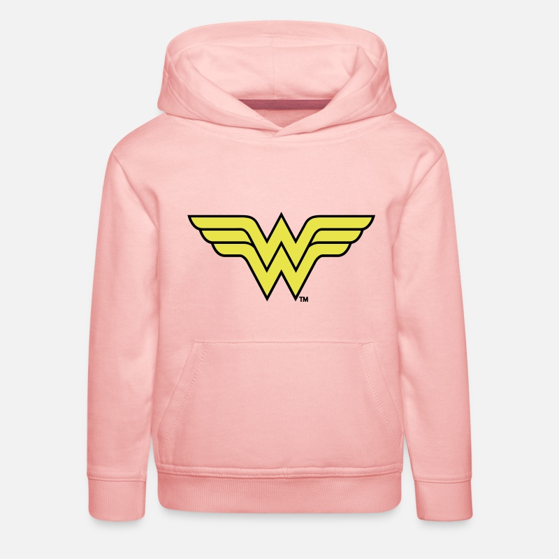 Superhelden Pullover & Hoodies - Justice League Wonder Woman Logo - Kinder Premium Hoodie Kristallrosa