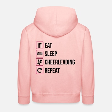 Cheerleading Eat Sleep Cheerleading Repeat - Kids' Premium Hoodie