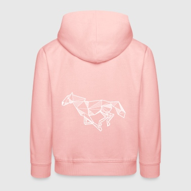 Horse gallop gift idea animal rider geometric - Kids' Premium Hoodie