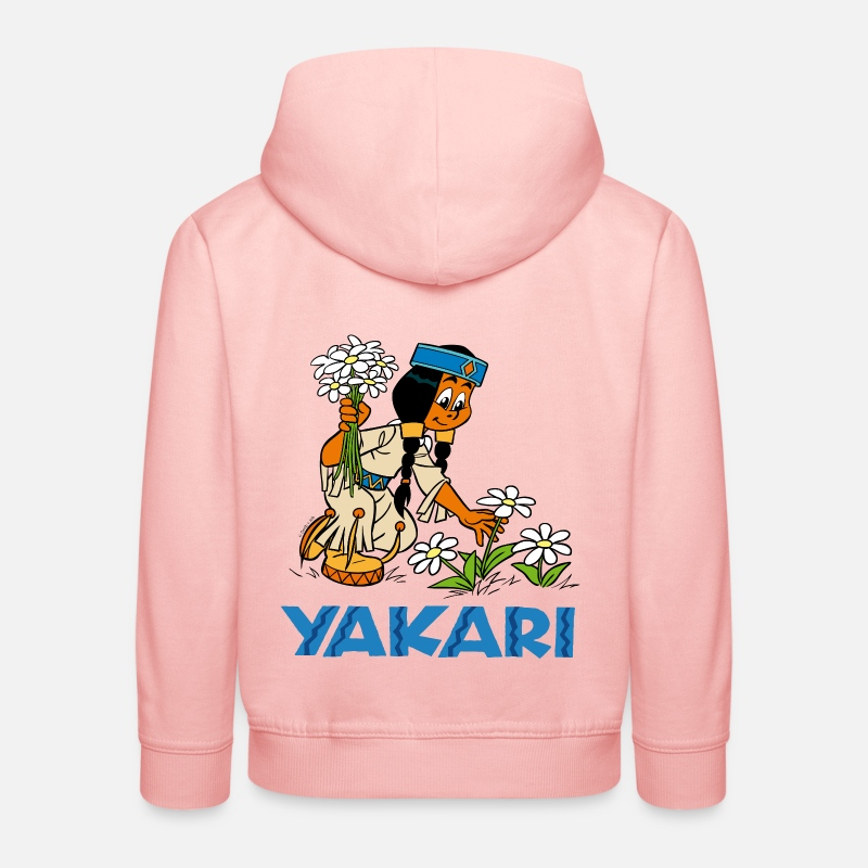Officialbrands Sweat-shirts - Yakari - Arc-en-ciel Pull  - Sweat à capuche premium Enfant rose cristal