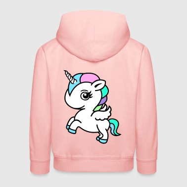 Colourful Unicorn - Pull à capuche Premium Enfant
