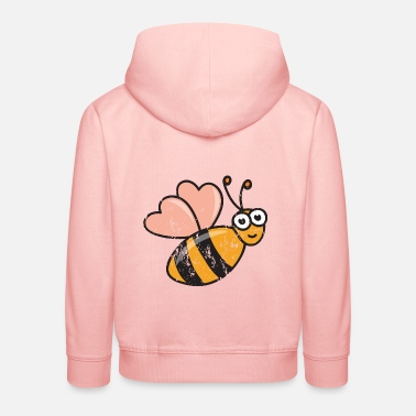 Cool Retro vintage grunge style honeybees bee honey - Kids' Premium Hoodie