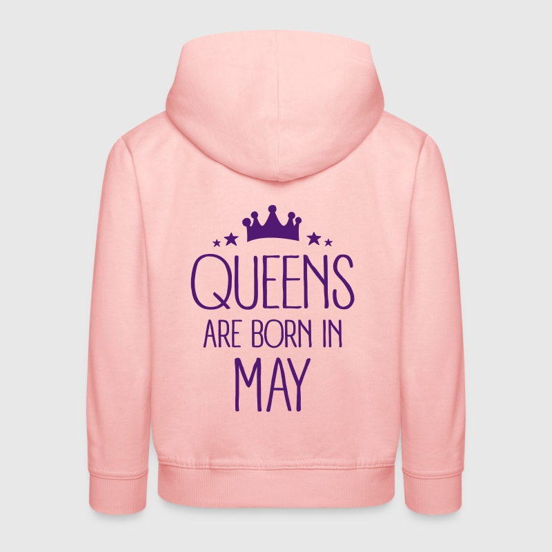 Queens Are Born In May - Pull à capuche Premium Enfant