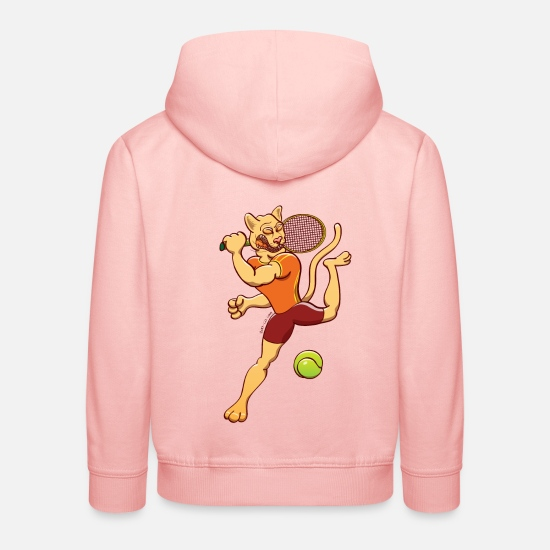 Athletic Mountain Lion Hoodies & Sweatshirts - Puma Performing Tennis Smash - Kids' Premium Hoodie crystal pink