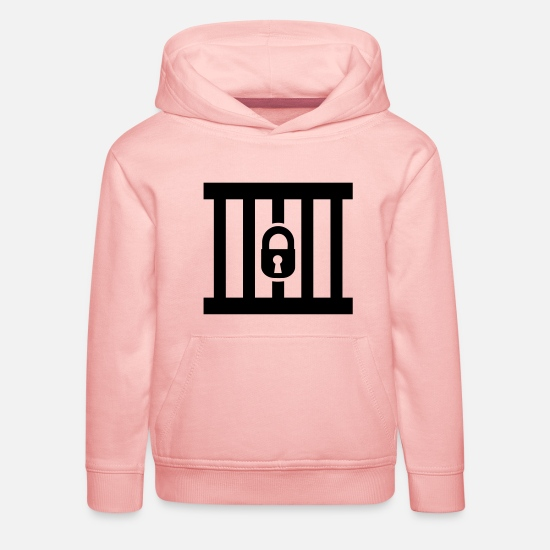 Prison Sweat-shirts - Prison - Sweat à capuche premium Enfant rose cristal
