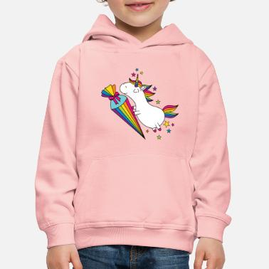 Unicorn Unicorn schoolchild school candy bag - Kids' Premium Hoodie