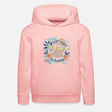Animal Planet Too Cute Sloth Be Happy Quote - Kids' Premium Hoodie