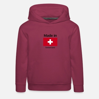 Suisse Made in Switzerland vêtements pour fier suisse - Sweat à capuche premium Enfant