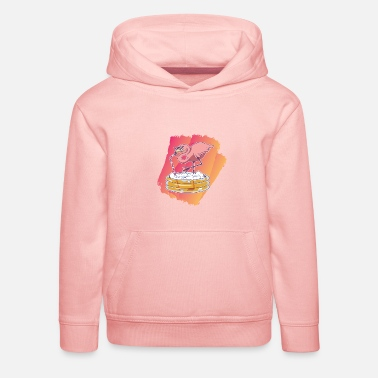 Christmas Flamingo Flamingo summer summer vintage gift design - Kids' Premium Hoodie