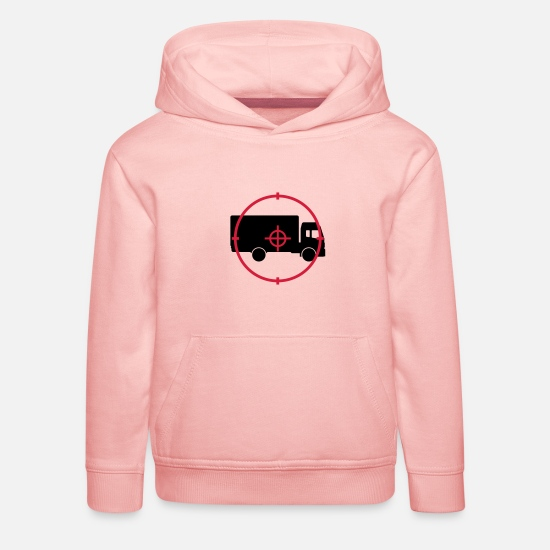 Transport Sweat-shirts - Déménageur / Déménagement / Déménager / Camion - Sweat à capuche premium Enfant rose cristal