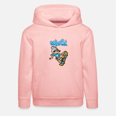 Skateboard Skateboard kid and graffiti - Kids' Premium Hoodie