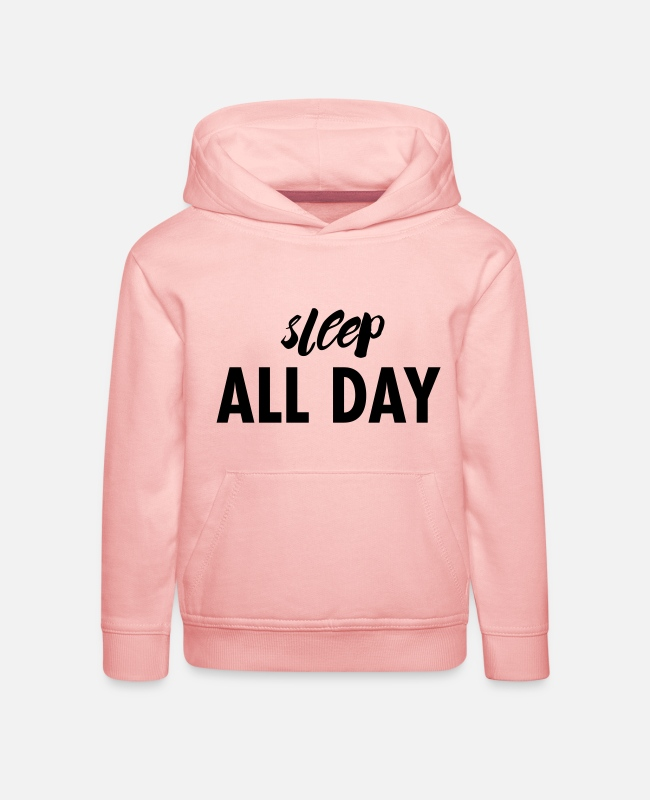 Schlafen Pullover & Hoodies - sleep all day - Kinder Premium Hoodie Kristallrosa