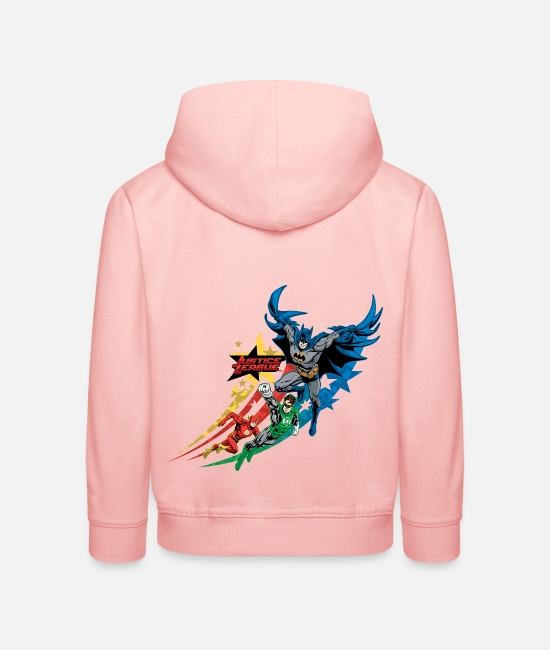Superhero Pullover & Hoodies - Justice League Power Stars - Kinder Premium Hoodie Kristallrosa