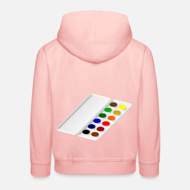 Watercolor watercolors - Kids' Premium Hoodie