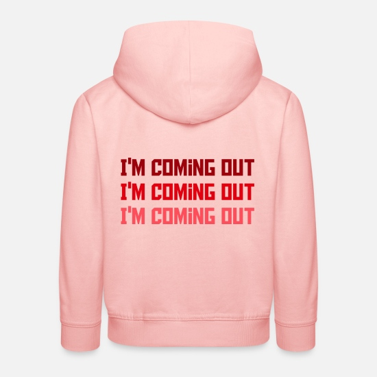 Exit Hoodies & Sweatshirts - I'm coming out - Kids' Premium Hoodie crystal pink