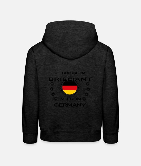 Brilliant Pullover & Hoodies - I AM GENIUS BRILLIANT CLEVER GERMANY - Kinder Premium Hoodie Anthrazit