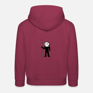 Spear Skeleton with spear - Kids' Premium Hoodie