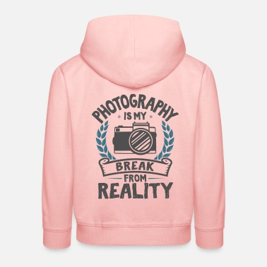 Comics Cool Funny Retro Photography Photographing Love - Kids' Premium Hoodie
