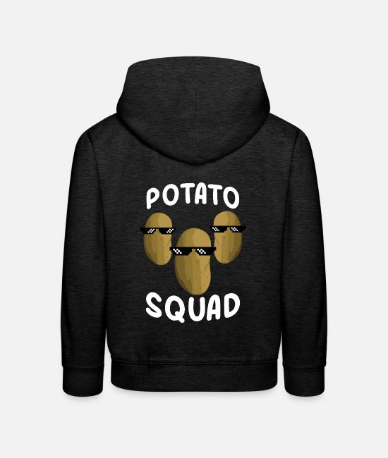 2019 Designs Hoodies & Sweatshirts - Potato troop food gift - Kids' Premium Hoodie charcoal grey