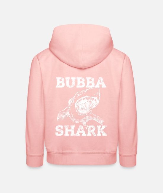 Shark Hoodies & Sweatshirts - Bubba Shark Funny Brother Nickname - Kids' Premium Hoodie crystal pink