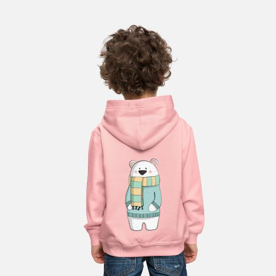 Kids Sweat-shirts - Eisbaer hiver - Sweat à capuche premium Enfant rose cristal