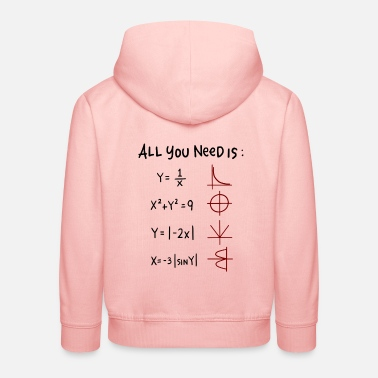 All You Need Is Love Math Teacher All you need is Love Math Trigonometric Functions - Kids' Premium Hoodie