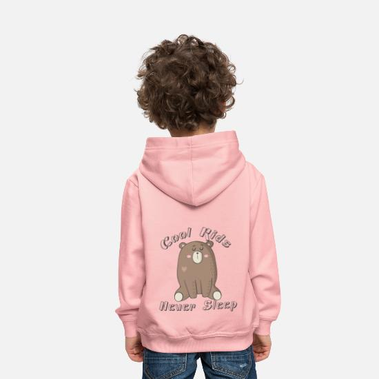 Cool Hoodies & Sweatshirts - Cool Kids-Never Sleep - Kids' Premium Hoodie crystal pink