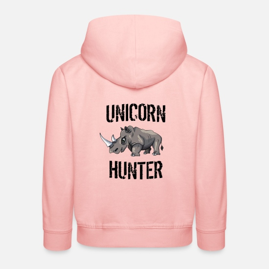 Licorne Sweat-shirts - Unicorn Hunter - Anti Licorne - Sweat à capuche premium Enfant rose cristal